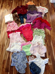 3-6 & 6-12 month girl clothing.
