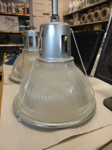 **** Vintage Halophane Industrial Lights ****