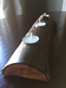 Tree branch candle holder