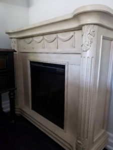 Elegant Electric Fireplace - $250