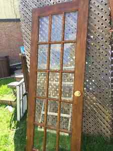 Single glass French door