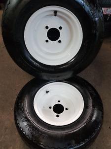 "20.5x8.0-10"" Trailer Rims +Tires CARLISLE USA TRAIL - 2pcs."