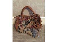 Shabby chic bag and matching purse