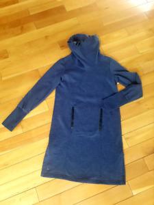 Lolë cowl sweatshirt dress (XS)