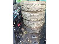 175/65/14 mitchelin tyres on Peugeot wheels
