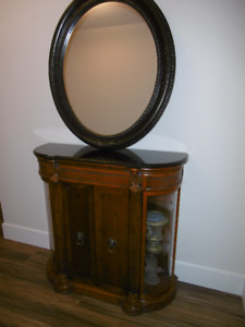 Mint Condition Hall Console and Oval  Mirror $395 Moving Sale