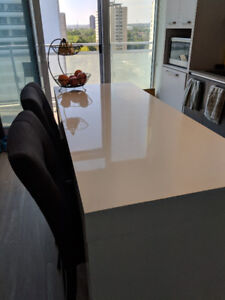 Counter-height kitchen table and 2 chairs - $450 OBO