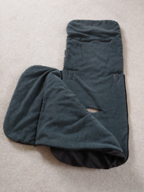 John Lewis baby foot muff, black/grey in great condition