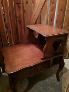 Beautiful antique French Provincial side tables with drawers