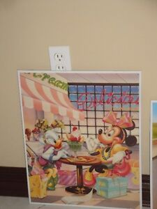 MICKEY MOUSE PICTURES - GLASS WITH METAL FRAME (LIKE NEW) London Ontario image 1