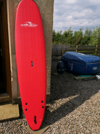 Alder large (8ft)beginners foamy surfboard