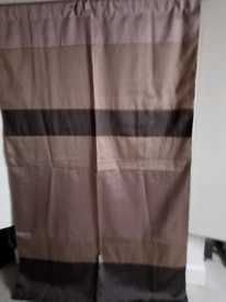 PAIR OF NEW, FULLY LINED CURTAINS WITH SLOT TOP