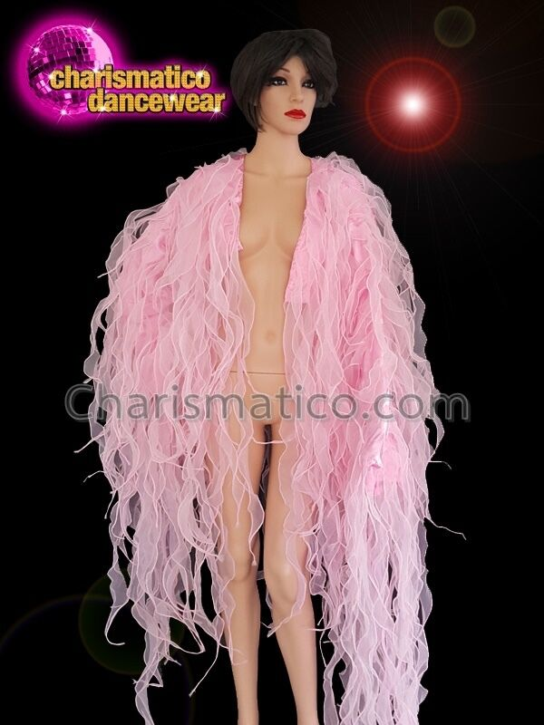 CHARISMATICO Pink organza diva ruffle show girl dance jacket