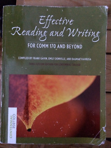 Effective Reading and Writing for COMM170 and Beyond
