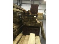 Fence post green and brown available