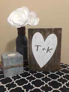 wooden heart signs