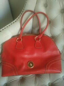 Dooney & Bourke bright red leather bag
