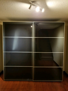 Ikea sliding Glass Wardrobe , dresser