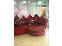 Red DFS 4 seater corner sofa-BARGAIN,,