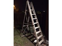 Massive 8 step ladders alloy really tall