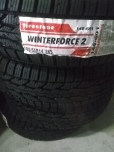 Set of new snow tires, 185/65R14 $350 for all, Certified M&S
