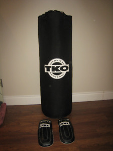 75lb TKO Punching Bag and Gloves