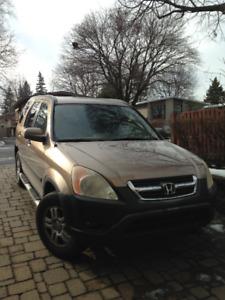 CRV 2002 beige a vendre 230000 km