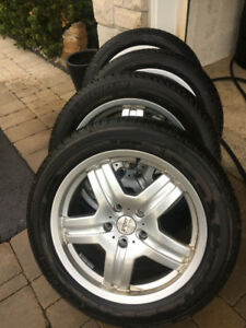 4 Audi Q7 fitting rims with Michelin X-ice 255 50 19
