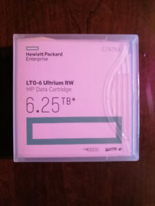 HP LTO-6 Ultrium 6, 6 TB MP RW Data Cartridge, (C7976A)