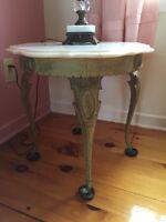 Antique Marble Tables - Excellent conditon!