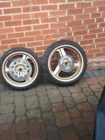 Honda cbr 400 full set of wheels