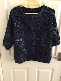 Ladies size 12 blue jumper