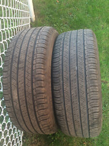 2 PNEUS / 2 ALL SEASON TIRES  235/60/18 MICHELIN LATITUDE