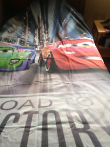 Lightning McQueen bed set with lamp