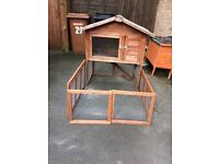 Small animal hutch and run