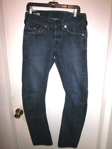 AUTHENTIC MENS TRUE RELIGION DENIM JEANS SIZE 29