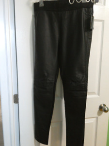 Leather leggings bnwt size L