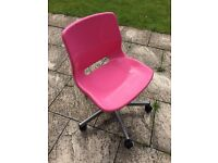 IKEA Pink swivel office chair