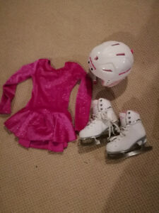 Kid's/Girl's Skating  Set (Skates, Helmet, + Dress)