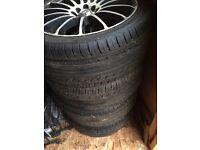 Brand new tyres on universal rims
