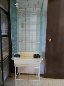 Tall finch cage with stand