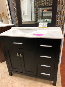 Modern Style beautiful vanity sets S-A-L-E on floor!!