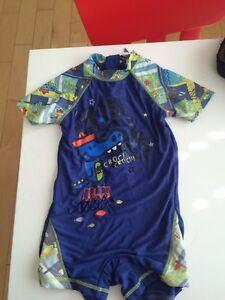 Maillot one piece 1 pièce zipper gars 3T 3 ans Gagou tagou