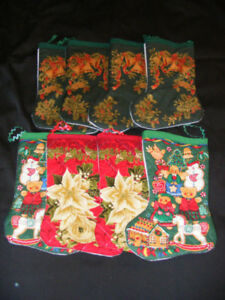 MINI CHRISTMAS STOCKINGS -- SELLING AS ONE LOT ONLY