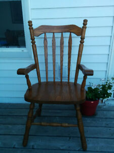 Oak Kitchen Chairs - Set of Four