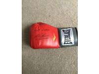 Ricky Burns signed boxing glove.