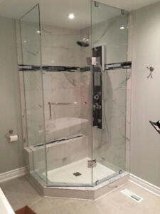 10mm Tempered Glass Shower Doors & Stair & Mirrors