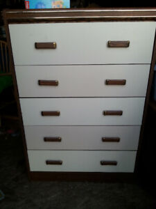 Highboy light colored dresser free delivery