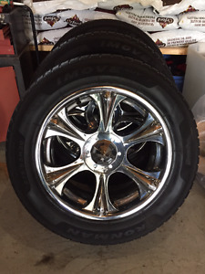 20 inch Chrome Rims/tires for Chevy or GMC