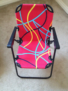 Foldable kids chair, New, Metallic body